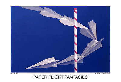 Paper Flight Fantasies - Air Race Original by Jerry Taliaferro