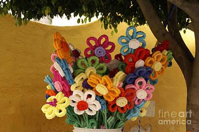 Photograph - Paper Flowers San Miguel De Allende Mexico by John  Mitchell