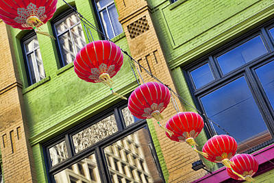 China Town Photograph - Paper Lanterns by Kelley King