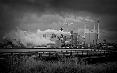 Photograph - Paper Mill by Williams-Cairns Photography LLC