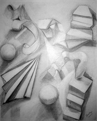 Drawing - Paper Sculpture E by Shelley Bain