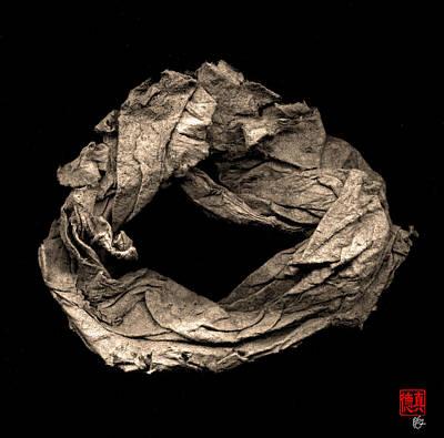 Paper Sculpture Zen Enso 1 Art Print