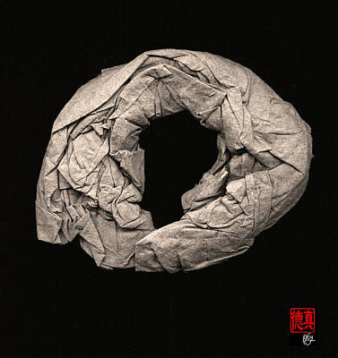 Sculpture - Paper Sculpture Zen Enso 2 by Peter Cutler