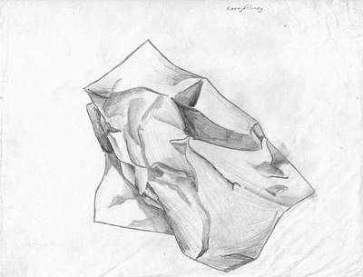 Corey Drawing - Paper Wad by Corey Finney