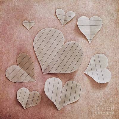 Heart Wall Art - Photograph - Papier D'amour by Priska Wettstein