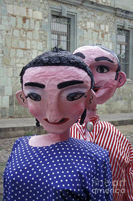 Photograph - Papier Mache Couple Oaxaca Mexico by John  Mitchell