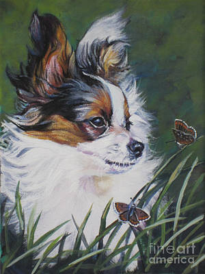 Painting - Papillon With Butterflies by Lee Ann Shepard