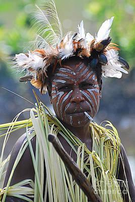 Papuan Fisherwoman Art Print by Anne Gordon