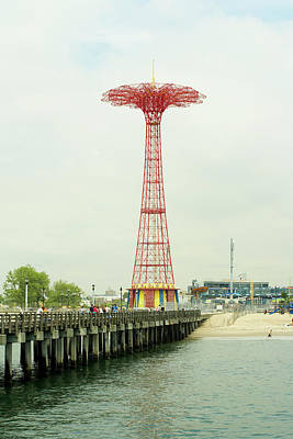 Parachute Jump At Coney Island, New York Print by Ryan McVay