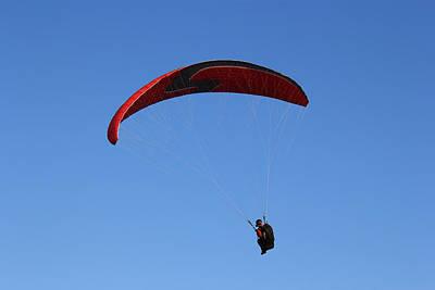 Photograph - Parachuting 1 by Radoslav Nedelchev