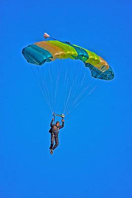 Parachuting Art Print by Karol Livote