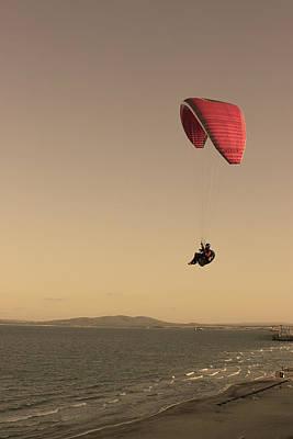 Photograph - Parachuting Over The Beach by Radoslav Nedelchev