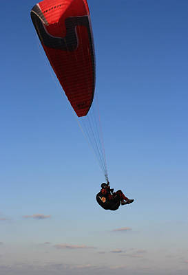 Photograph - Parachuting by Radoslav Nedelchev