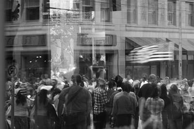 Photograph - Parade Crowd Reflected by Eric Tressler