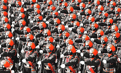 Parade March Indian Army Art Print by Sumit Mehndiratta