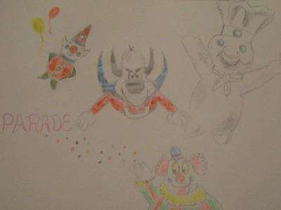 Underdog Drawing - Parade by Paul Rapa