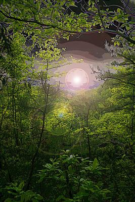 Paradise At Dawn Art Print by Nina Fosdick