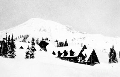 Paradise Inn Buried In Snow, 1917 Art Print by Science Source