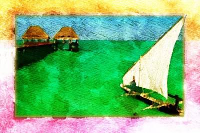 Art Print featuring the digital art Paradise Island by Andrea Barbieri