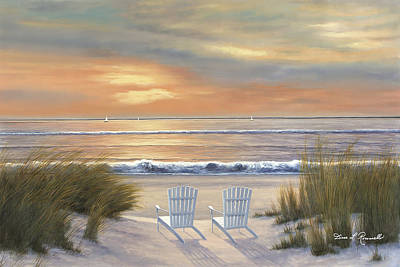 Painting - Paradise Sunset by Diane Romanello