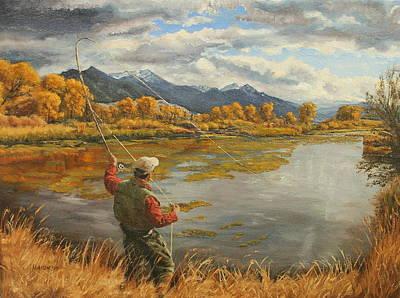 Bozeman Painting - Depuy Spring Creek Cast by Steve Haigh