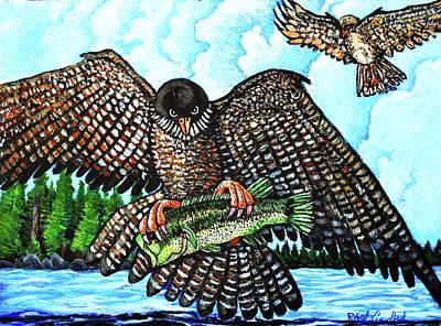 Paragon Falcon Art Print by Bob Crawford