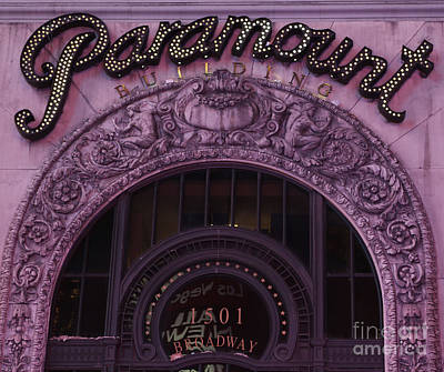 Overhang Photograph - Paramount Theater Times Square II by Lee Dos Santos
