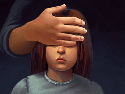 Paranormal Girl Art Print by Michael Keene