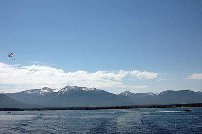 Emerald Photograph - Parasailing Adventure Lake Tahoe by LeeAnn McLaneGoetz McLaneGoetzStudioLLCcom