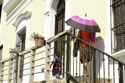 Photograph - Parasol Pair Old Mazatlan Mexico by John  Mitchell