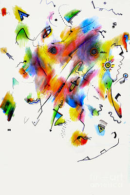 Pareidolia Wall Art - Drawing - Pareidolia II by Andy  Mercer