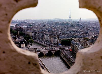 Paris And The Seine 1963 Print by Glenn McCurdy