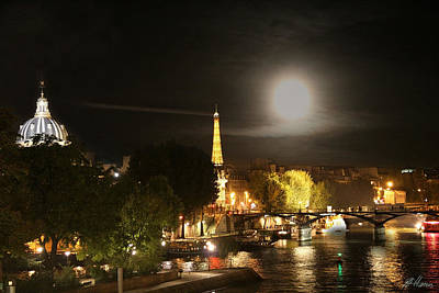 Photograph - Paris At Night by Diana Haronis