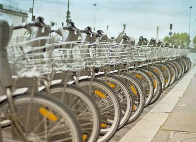 Velo Photograph - Paris Bikes by Georgia Fowler