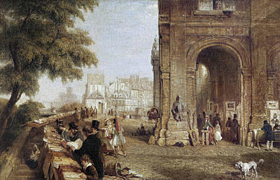 Photograph - Paris: Book Stalls, 1843 by Granger