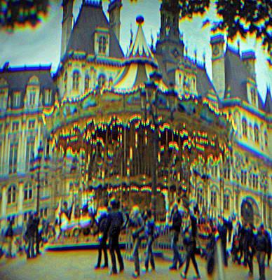 Photograph - Paris Carousel by Ron Morecraft