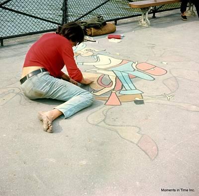 Paris Chalk Art 1964 Print by Glenn McCurdy