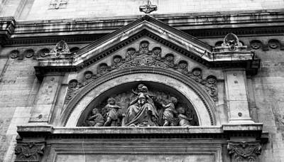 Photograph - Paris Church Facade by Tony Grider