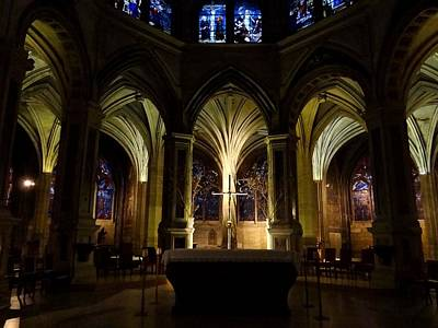 Photograph - Paris Church Of Saint-severin by Keith Stokes