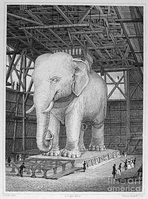 Paris: Elephant Monument Art Print by Granger