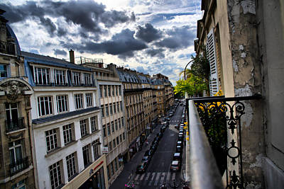 Art Print featuring the photograph Paris From A Balcony by Edward Myers