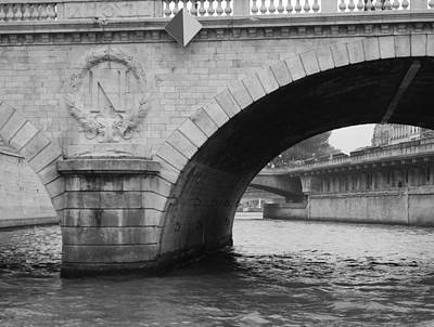 Photograph - Paris In Black And White by Diane Height