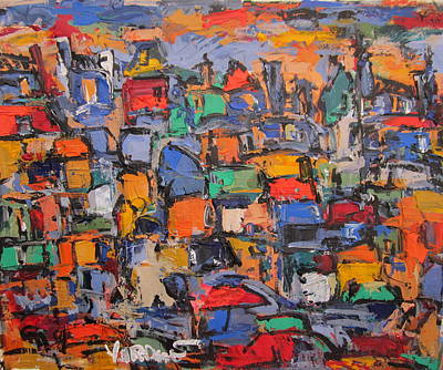 Painting - Paris In Colors 02 by Len Yurovsky
