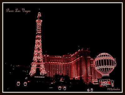 Photograph - Paris Las Vegas by Priscilla Richardson