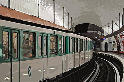 Paris Metro Art Print by Mary Machare