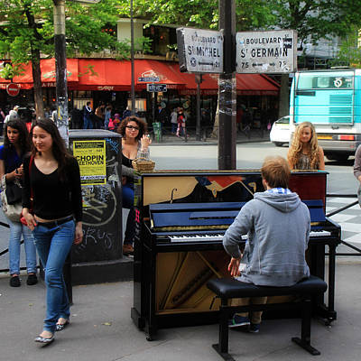 Musicians Royalty Free Images - Paris Musicians 2 Royalty-Free Image by Andrew Fare