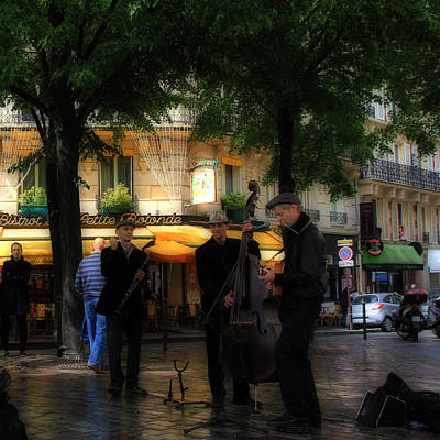 Musicians Royalty Free Images - Paris Musicians Royalty-Free Image by Andrew Fare