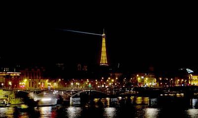 Paris Night Art Print by Keith Stokes