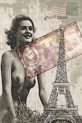 Photograph - Paris Nostalgia Print by Greg Sharpe