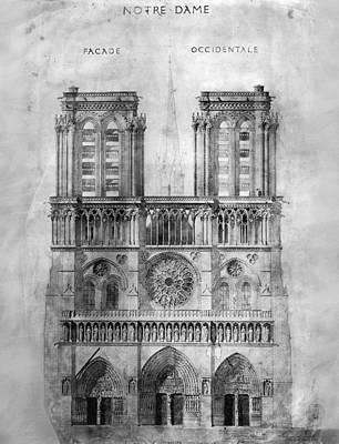 Photograph - Paris: Notre Dame, 1848 by Granger